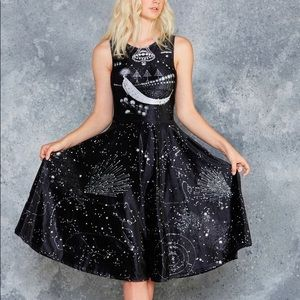 BMC A Thousand Suns Velvet Princess Midi Dress